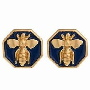 Classic Enamel Bee Earrings